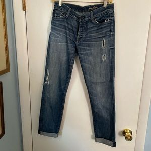 7 For All Mankind Josephine Distressed Jeans Sz 27